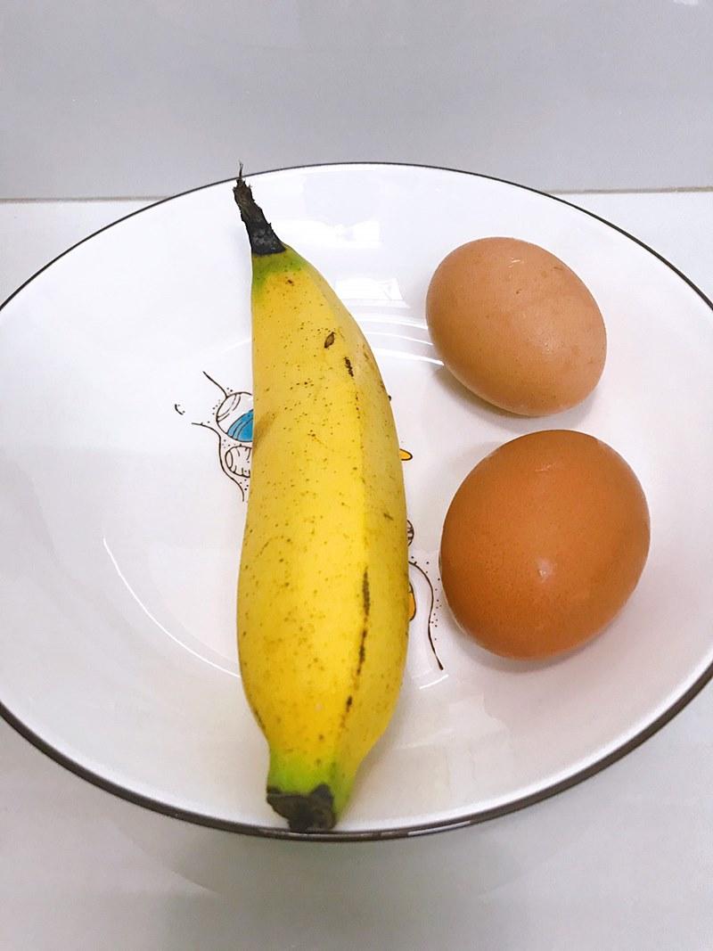 banana and eggs